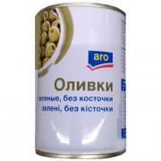 Оливки Aro зеленые без косточки 300 гр