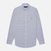 Мужская рубашка Polo Ralph Lauren Button Down Oxford Gingham White/Navy