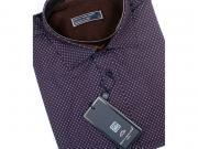 MULTIBRAND Мужская рубашка коричневая с узором приталенная GAVI GALDO (SLIM FIT) 620-248