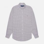 Мужская рубашка Polo Ralph Lauren Button Down Oxford Gingham White/Berry