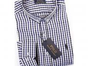 MULTIBRAND Мужская рубашка бело-синяя в клетку RALPH LAUREN POLO (CLASSIC FIT) RL-19514-10
