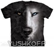 Футболка Black And White Wolf Face