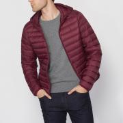Куртка La Redoute Стеганая тонкая с натуральным наполнителем S красный