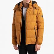 Куртка La Redoute Стеганая с капюшоном и воротником-стойкой на флисовой подкладке S желтый