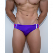 Яркие плавки с белой и розовой полоской пурпурного цвета Boefje RT33016