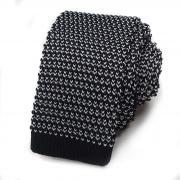 Вязаный черно-белый галстук 822899