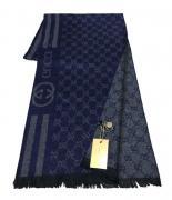 Шарф мужской Gucci 150112 синий с серым