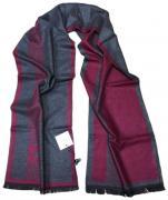 Шарф мужской теплый GIVENCHY бордовый с серым 100109