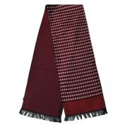 Бордовый мужской утепленный шарф с узорами 833326
