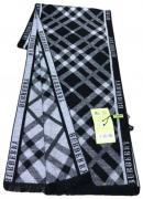 Шарф мужской теплый Burberry 140121 черный с белым
