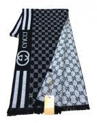 Шарф мужской Gucci 150115 черный с белым