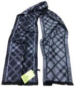 Шарф мужской теплый Burberry 140122 серый