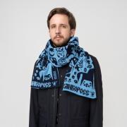 Зимний Вечер – синие тона № 3.3 (Без бахромы)