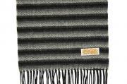 Шарф Шерстяной шарф, мужской черно-серый 30651
