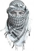 Шарф Арафатка (черно-белая)