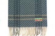 Шарф Шерстяной шарф, мужской с узором серый 30681