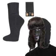 Комплект-подарок шапка с подогревом RedLaika RL-G-AA и Носки RL-N-AA