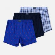 Комплект мужских трусов Polo Ralph Lauren Boxer 3-Pack Milton/Navy/Royal All Over Print Red