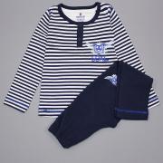 Пижама для мальчика (Тельняшка), Baykar, темно-серого цвета, р 98