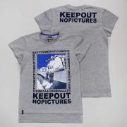 Футболка для мальчика (KEEPOUT), арт 84166, цв. серый меланж, р 152