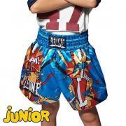 Детские шорты для тайского бокса LEONE 1947 Hero ABJ02 Blue Leone