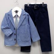 Костюм-тройка, голубой пиджак, р. 122