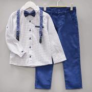 Костюм нарядный с галстуком-бабочкой для мальчика, цв. Индиго, р. 128