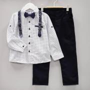 Костюм нарядный с галстуком-бабочкой для мальчика, цв. Темно-синий, р. 116
