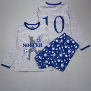 Пижама для мальчика (Футболист), Baykar, серый верх/синий низ, р. 104