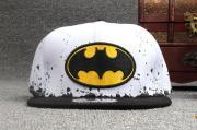 Детская кепка с прямым козырьком по мотивам кинофильма/комикса Бэтмен Марвел (Бейсболка Batman Marvel) белая