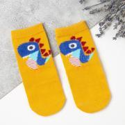 """Носки для мальчика MINAKU """"Дино"""", размер 14 (р-р произв. 0-3), цвет жёлтый"""
