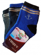 Носки детские 3 пары Алиша С3507-3 махровые, размер 31-36