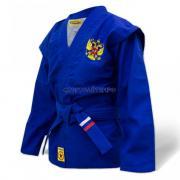 Куртка для самбо КрепышЯ облегченная - синяя