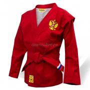 Куртка для самбо КрепышЯ облегченная - красная