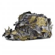 Охотничья кепка - немка с листьями (Бейсболка камуфляж для охоты) серая