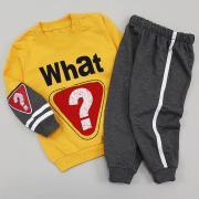 Костюм спортивный для мальчика, Eymus, 33245, желтый верх/серый низ, р 92