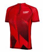 Extreme Hobby Футболка с молнией беговая halftone red, женская Extreme Hobby