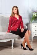 Жакет женский М-011/15, цвет бордовый, размер 46