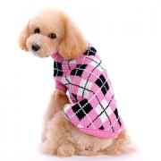Собака Свитера Одежда для собак В клетку Розовый Сукно Костюм Назначение Весна & осень Зима Муж. Жен. Сохраняет тепло