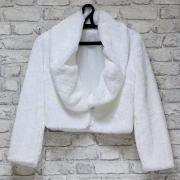 Свадебная шубка для невесты №8 (белый)(44-46 размер)