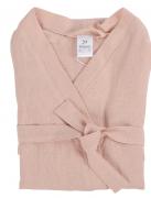 Халат из умягченного льна розово-пудрового цвета из коллекции essential Tkano размер s