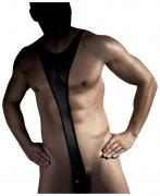 Боди Derrick из ткани с wet-эффектом черный XXL Anais