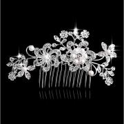 Жен. Мода Головные уборы Искусственный жемчуг Стразы Сплав,Цветочный принт / В форме листа