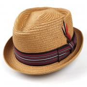 Летняя соломенная шляпа трилби