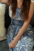 Платье от бренда RAISINS - 44 - бело-синий RAISINS ПлХ13-100РЯБЬСИН