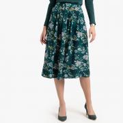 Юбка-миди La Redoute Расклешенная с цветочным рисунком 46 (FR) - 52 (RUS) разноцветный
