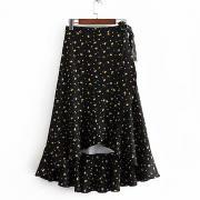 женские юбки длиной до колен - геометрические