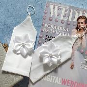 """Свадебные перчатки для невесты """"Нежные цветочки"""" (белый)"""