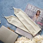 """Свадебные перчатки с кружевом """"Альфреда"""" (айвори)"""