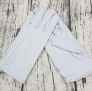 Вечерние атласные перчатки (серые)